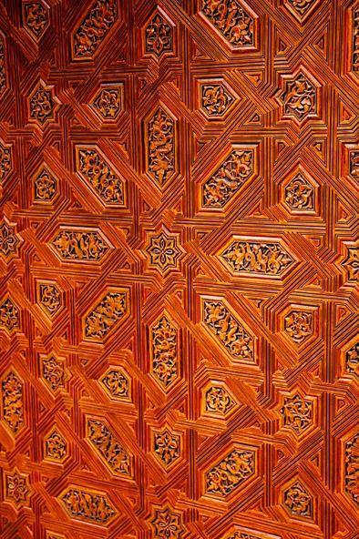 Carved Door, Alhambra, Spain by @Ehsan Khakbaz Khakbaz Khakbaz Khakbaz Khan