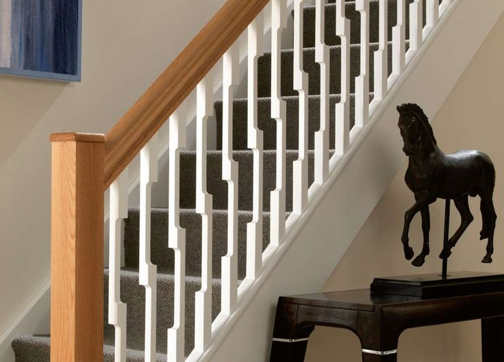id ez modern ready primed spindle pack 5 x white primed id modern stair spindles handrails base rails shaw stairs ltd