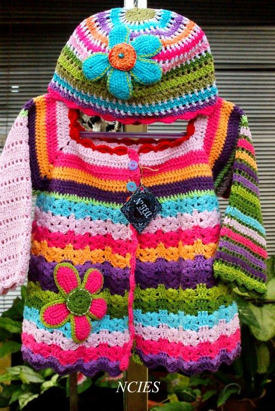 , , , , ,  (*-*) Crochet N'Cie    : Crochet Cardigan for Childrens