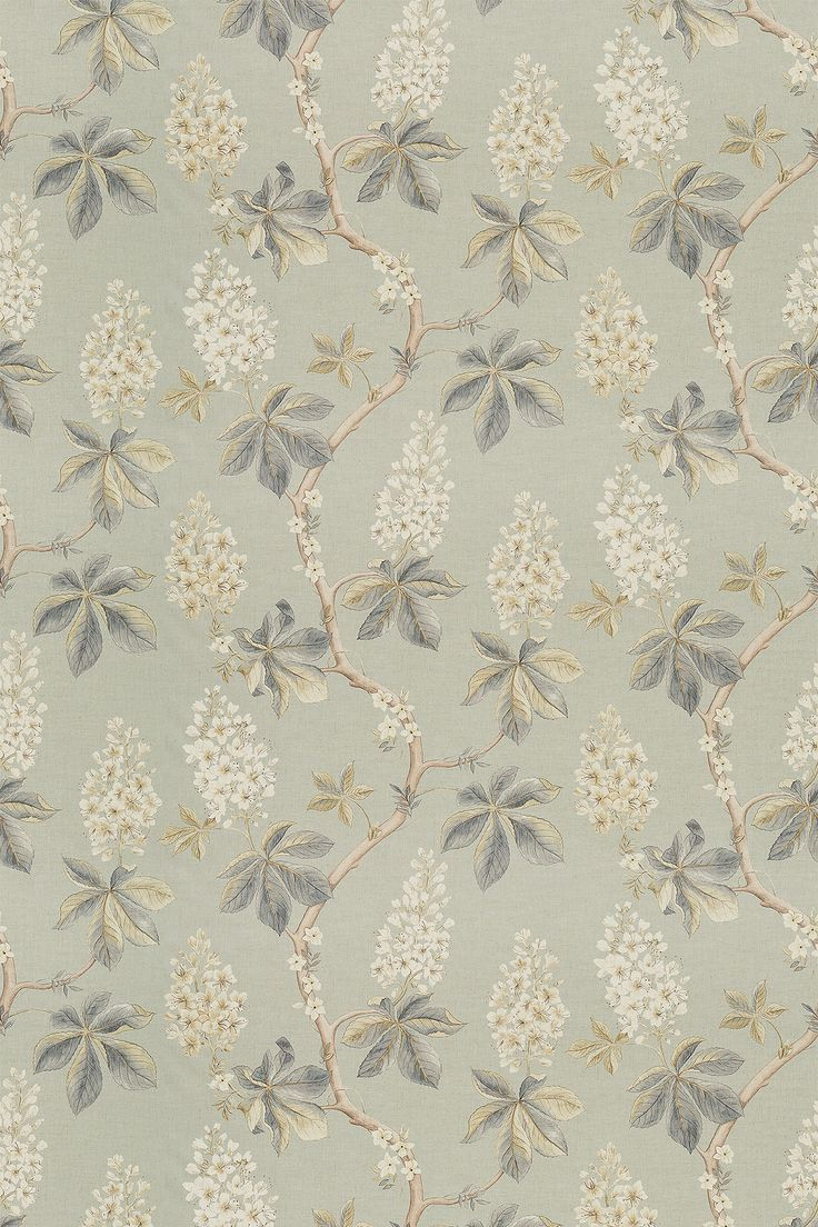 Chestnut Tree Grey Blue / Sage fabric by Sanderson