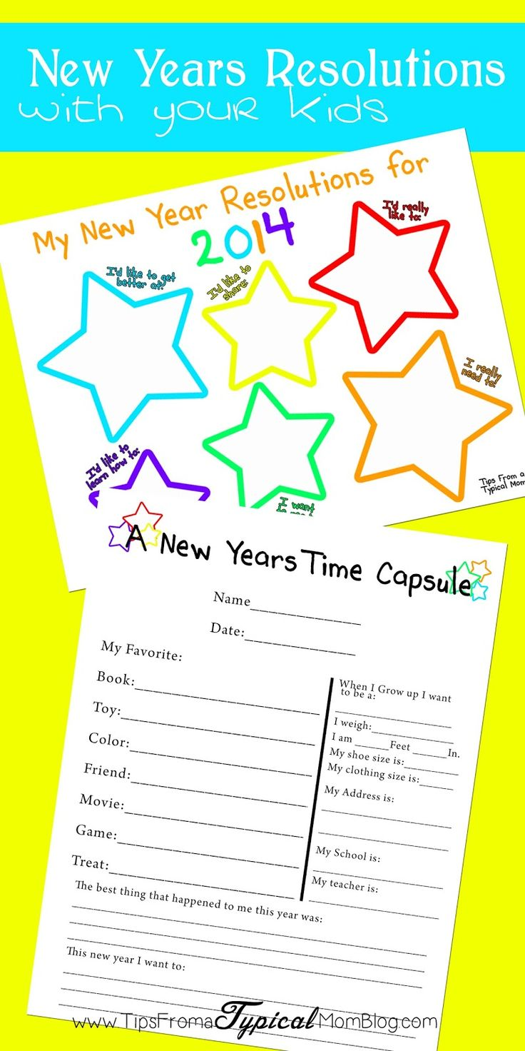 Making New Years Resolutions with your Kids