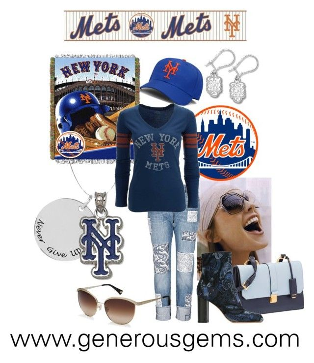 Let's Go Mets by generousgems.com on Polyvore featuring '47 Brand, Valentino, Miu Miu, Coach, NIKE and York Wallcoverings  #letsgomets #NYMets #mets #playoffs #baseball #mlb #NY #fans #baseballfan #nyc #mroctober #playoffs2015 #generousgems #sports #pitcher #metsnecklace #metsearrings