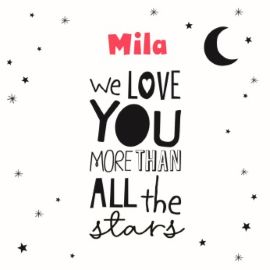 We love you more than all the stars!  #Hallmark #HallmarkNL #girl #geboorte #meisje #geboortekaartje