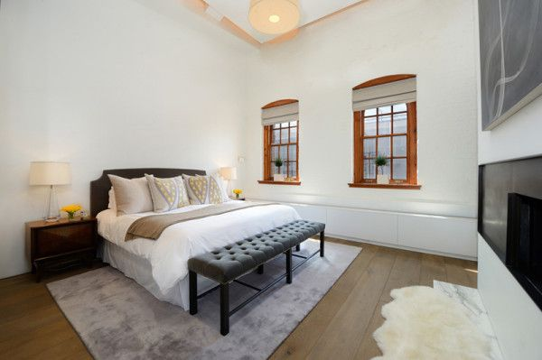 A Greenwich Penthouse Loft featuring custom hand scraped and wire brushed wide-plank Bavarian oak floors by Arrigoni.