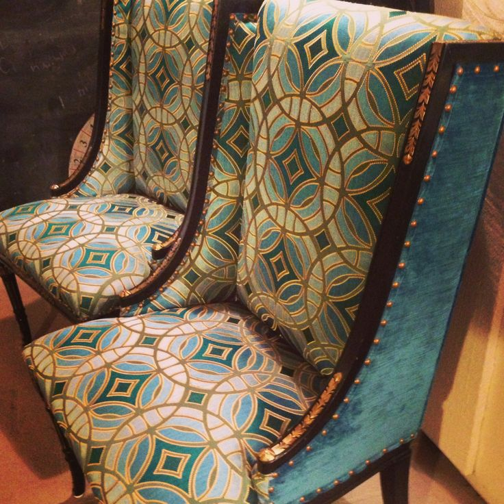 Cari Cucksey And I Getting Excited Over These Vintage Chairs And Which Robert  Allen Fabric To Use! | Reclaimed Love | Pinterest | Robert Allen Fabric, ...