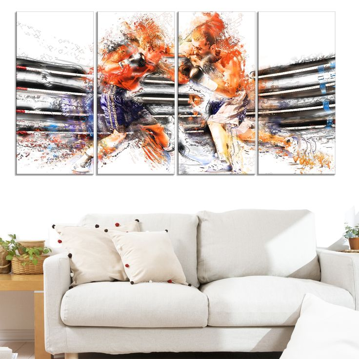 Design Art 'Boxing Round One' Canvas Print