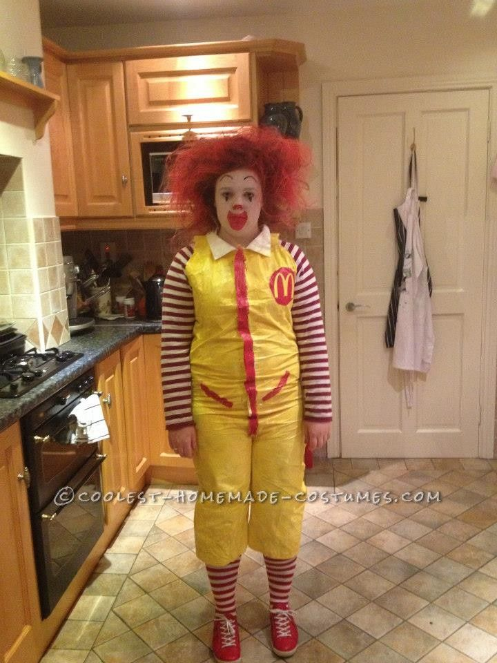 Last-Minute Ronald McDonald Costume... This website is the Pinterest of costumes