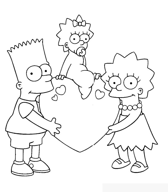 Coloring Book Minions : 49 best bart and family coloring page images on pinterest