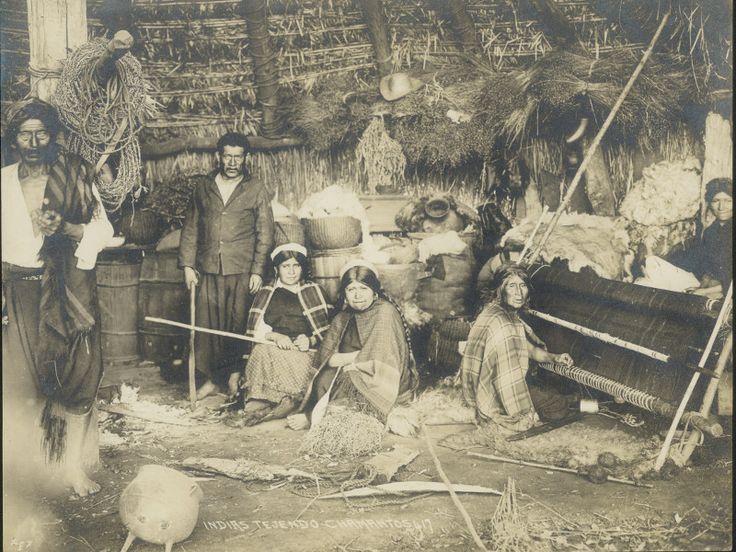 Interior ruca Mapuche