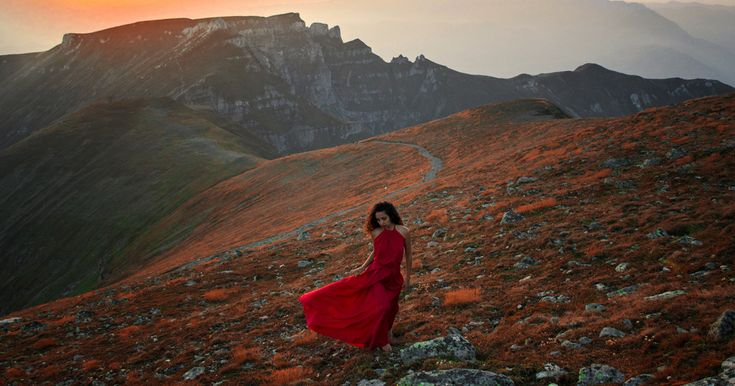 We Photograph The Woman In Red Dress In The Mesmerizing Landscapes Of Romania…