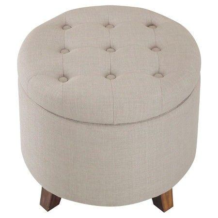 Tufted Round Storage Ottoman - Threshold™ : Target