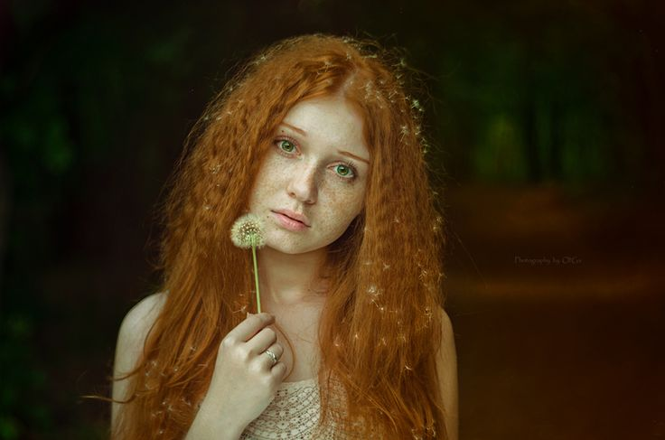 Olga Gabsattarova - *the girl with dandelion hair*: Photography Art History, Girls, Olga Gabsattarova, Freckles Dandelions, Redheads Beautiful, Hairs, Dandelions Hair, Art Xtravaganza, Dragon Tattoo