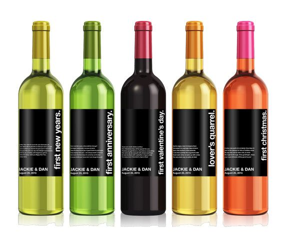 Wedding Milestones Wine Label  Custom Wine Label  by iCustomWine