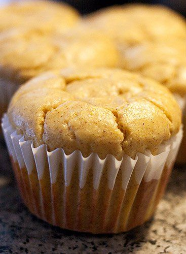 Candice's low carb cream cheese pumpkin muffins    servings: 6    Ingredients:4oz cream cheese    2 Tablespoons Splenda    2 large eggs    1/2 teaspoon vanilla extract    1/4 cup pumpkin puree    1/2 teaspoon ground cinnamon    1/4 teaspoon ground nutmeg    1 teaspoon baking powder    1/4 cup + 2 Tablespoons Vanilla Whey Protein    1/4 cup + 2 Tablespoons ground almonds    Preheat oven to 350F    In mixer with paddle attachment, cream splenda & cream cheese till smooth.    Add eggs one at a…