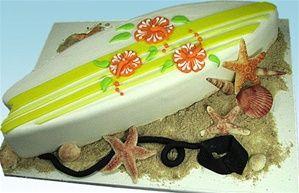 YummyArts Serve's Up Surfboard Cake