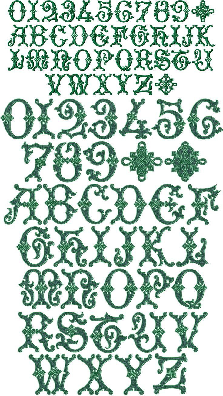 Celtic Alphabets Letter Irish | Irish Magic Font Machine Embroidery Designs 4x4 and 5x7 | eBay