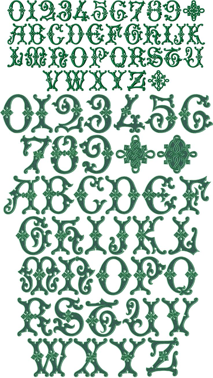 Celtic Alphabets Letter Irish | Irish Magic Font Machine Embroidery Designs 4x4 and 5x7 | eBay