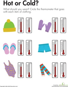 Temperature: Hot or Cold? This would have been perfect for one of my weather lessons!