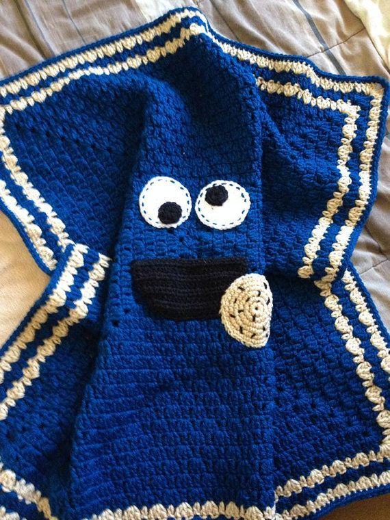 Gehäkelte Babydecke, benutzerdefinierte gemacht Decke, Cookie-Decke blau Decke
