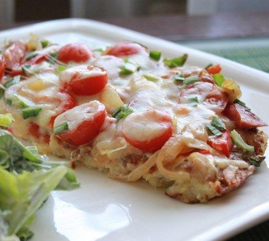 Нежная, вкусная пицца на сковороде за 10 минут