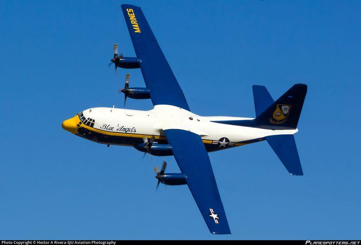 "Blue Angels ""Fat Albert"" US Navy Lockheed C-130T Hercules (L-382) Jacksonville - Naval Air Station (Towers Field) (NIP / KNIP) USA, October 25, 2014 by Hector A Rivera"