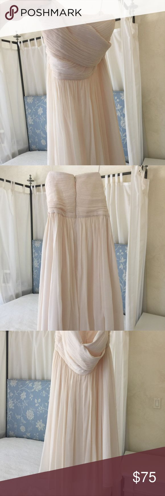 Champagne j crew dress size tall 8 Champagne j crew dress size tall 8 (bridesmaid dress). Small dirt stain at bottom as pictured J. Crew Dresses Wedding
