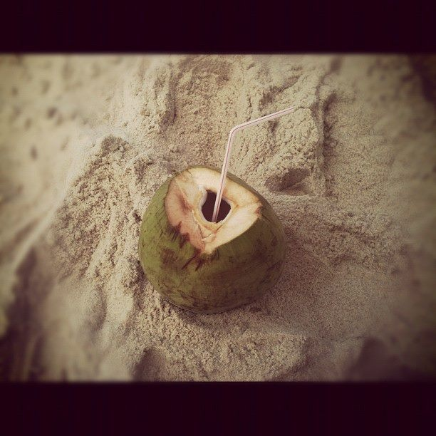 Coconut Milk, love this! Maresias Beach, Brazil - by Lauren Muzzin