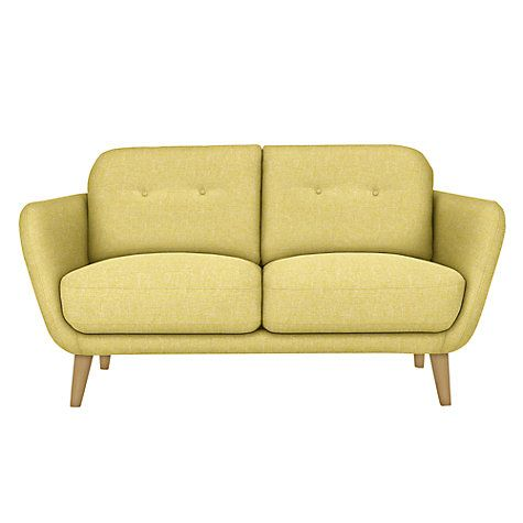 Buy House by John Lewis Arlo Small 2 Seater Sofa, Light Leg, Riley New Fennel Online at johnlewis.com