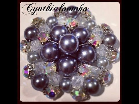 In this video I show you how I make my beaded brooches with various pearls, crystals, and rhinestones! If you don't get it the first time just keep trying. I...