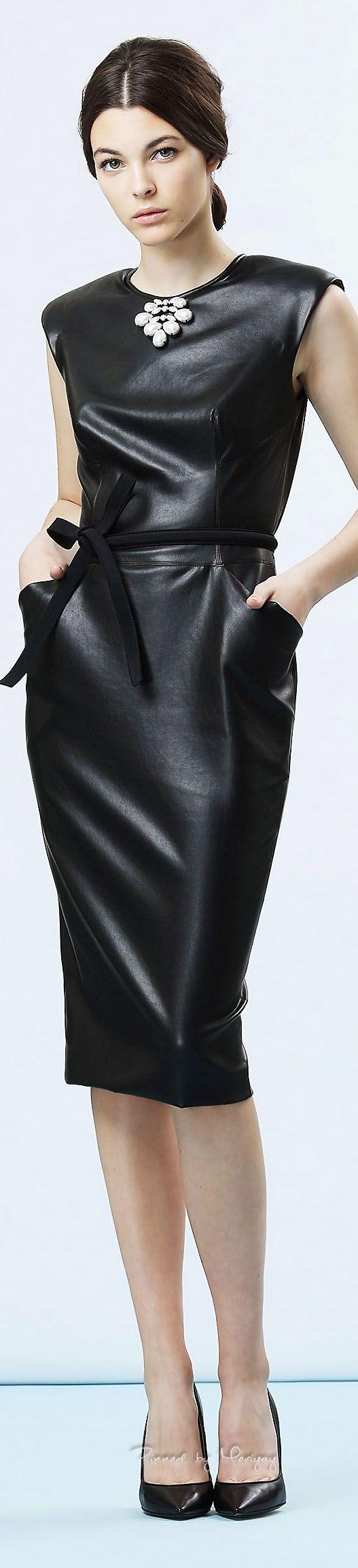 Cocktail dresses / karen cox. Black Leather dress Ermanno Scervino.SS.2015.