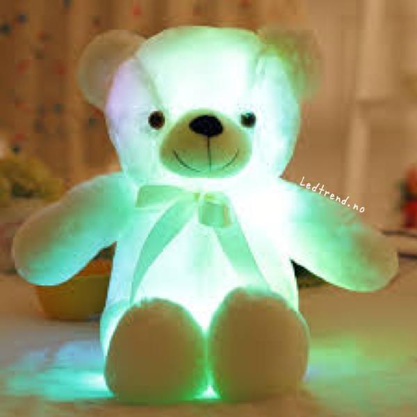 Teddy Bamse Med Led Lys