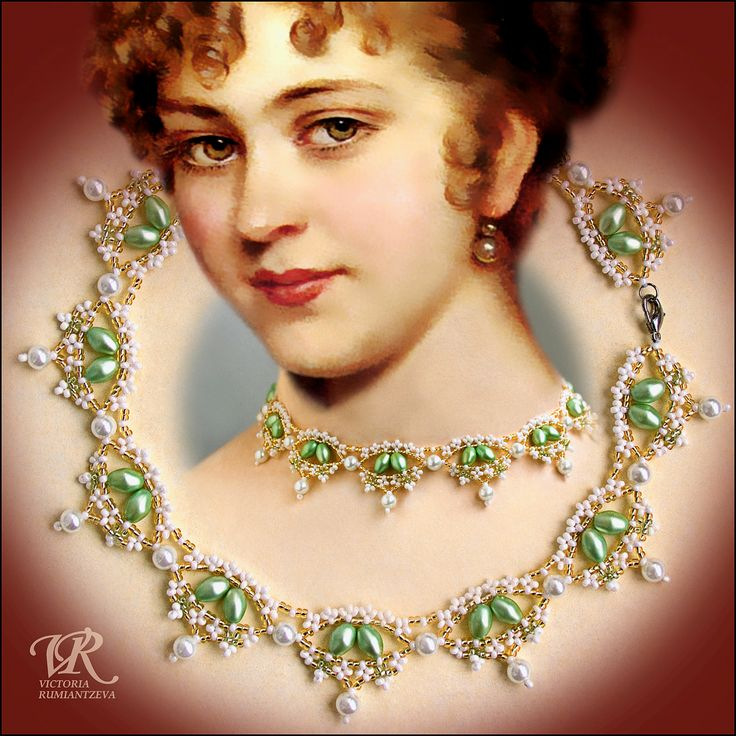 Free pattern for necklace Renaissance by Viktoria Rumiantzeva | Beads Magic