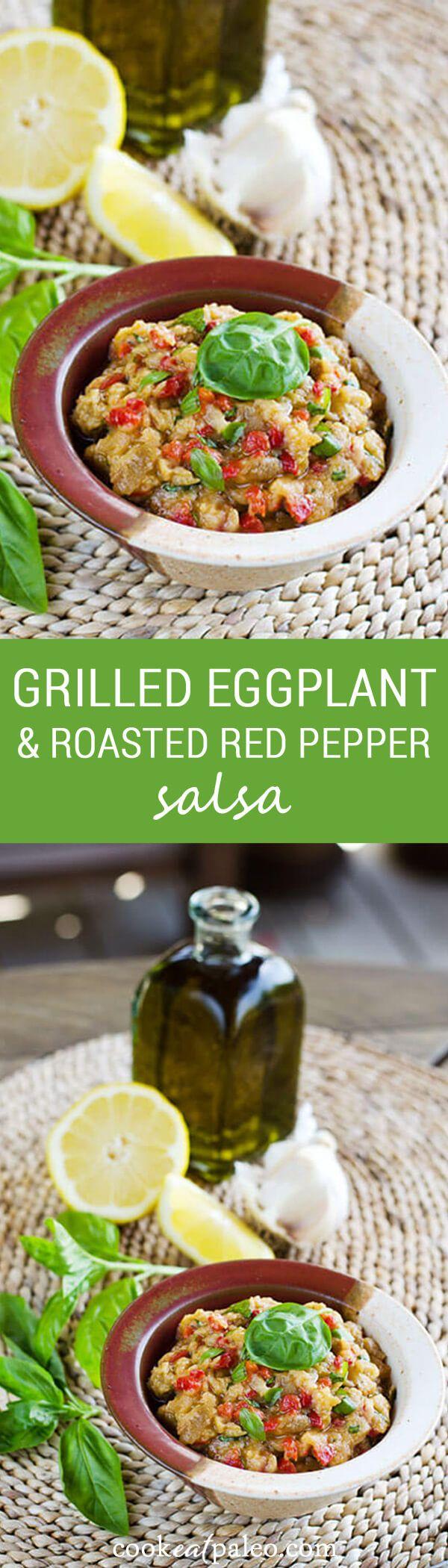 Grilled Eggplant Baba Ganoush Recipe — Dishmaps