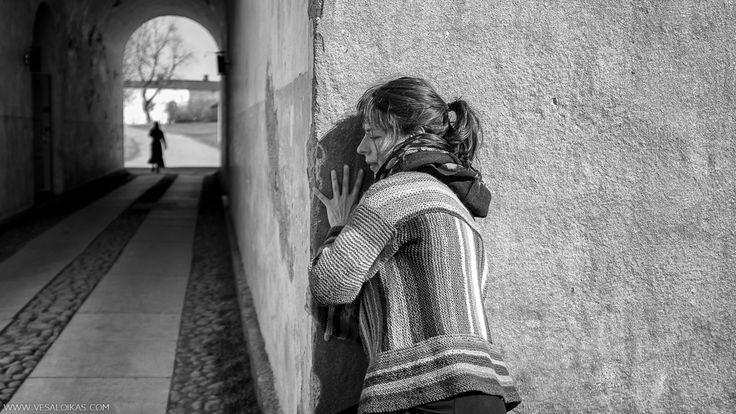 CORNERED -SUOMENLINNA, HELSINKI, FINLAND   dancer: KRISTIINA TURTIAINEN   April 2015 Part of my photography series ofimprovisedmoderndanceusingstreetsand otherpublicspacesasstages.
