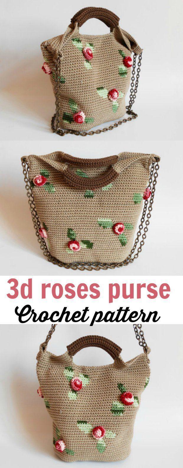 424 best crochet patterns tutorials images on pinterest crochet bag with roses intermediate pattern crochet news bankloansurffo Choice Image