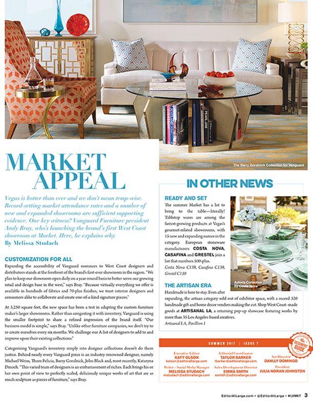 vanguard furniture featured in the news 2017 07 las vegas market rh pinterest com