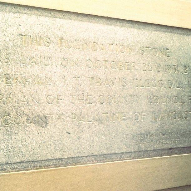 """They left the door open Sara lets go in."" Foundation Stone at Edge Hill University  #Ormskirk #uni #edgehill #edgehilluni #5yearreunion #classof2012 #reunion #flatmates #coursebuddies  #nw #journalism"