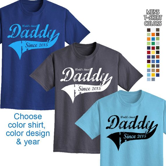 46 best fathers day personalized gifts for dad and baby images worlds finest daddy personalized w year mens t shirt great gift for fathers day or a new dad negle Gallery