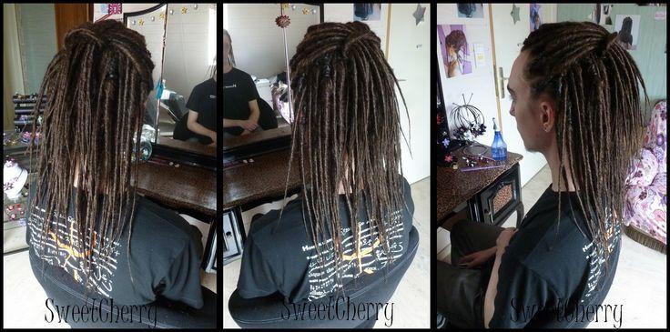 Pose de dreads mi-longues