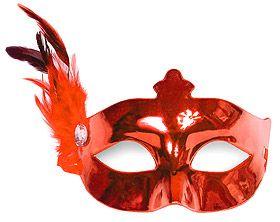 Optez pour ce masque Vénitien avec plumes et strass pour vos animations durant la soirée de votre mariage ! http://www.mariage.fr/cotillons-serpentins.html
