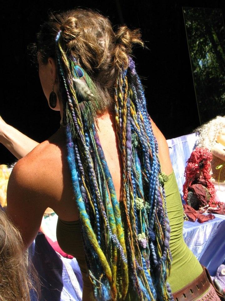 colorful yarn dreads