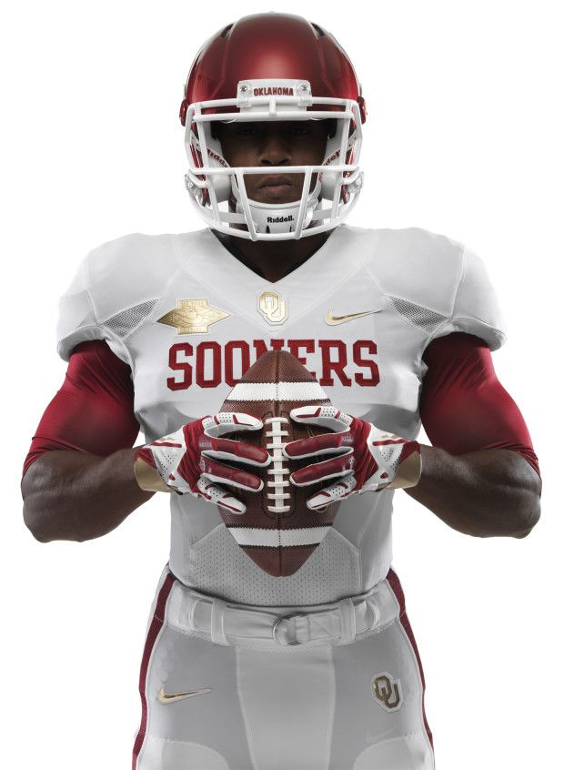 2013 Oklahoma Sooners Nike Pro Combat Uniforms For The Red