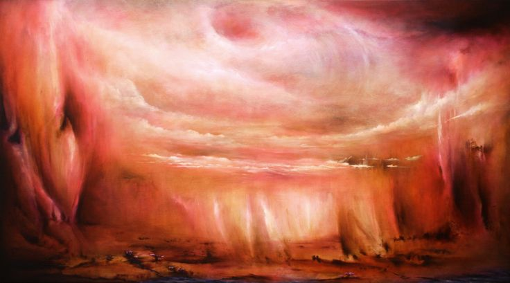 """""""Whirling Dervish"""" by Daniel Rigos. Abstract Surreal Landscape Oil Painting for Sale on Bluethumb - Online Art Gallery, Australia. 152cm (W) x 86cm (H) - SOLD"""