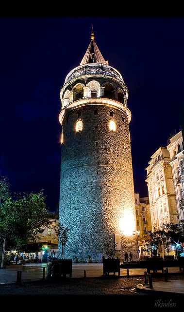 Galata Tower in Istanbul..by ilkin., via Flickr