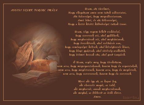 Assisi Szent Ferenc imája