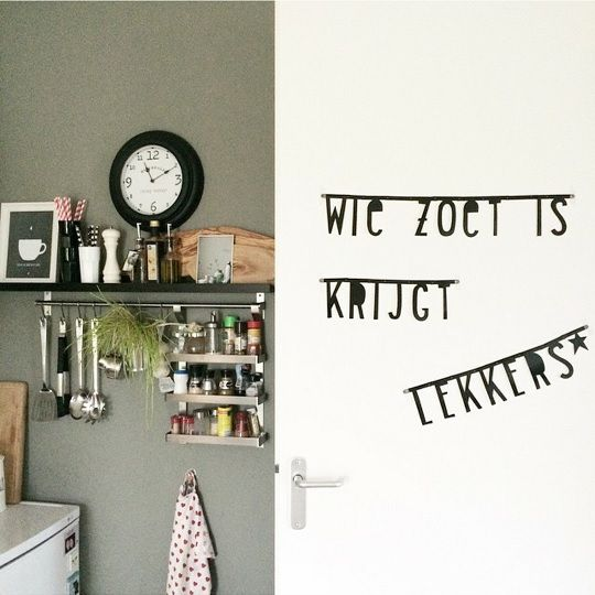 #Wordbanner #tip: #Wie zoet is krijgt lekkers - Buy it at www.vanmariel.nl - € 11,95