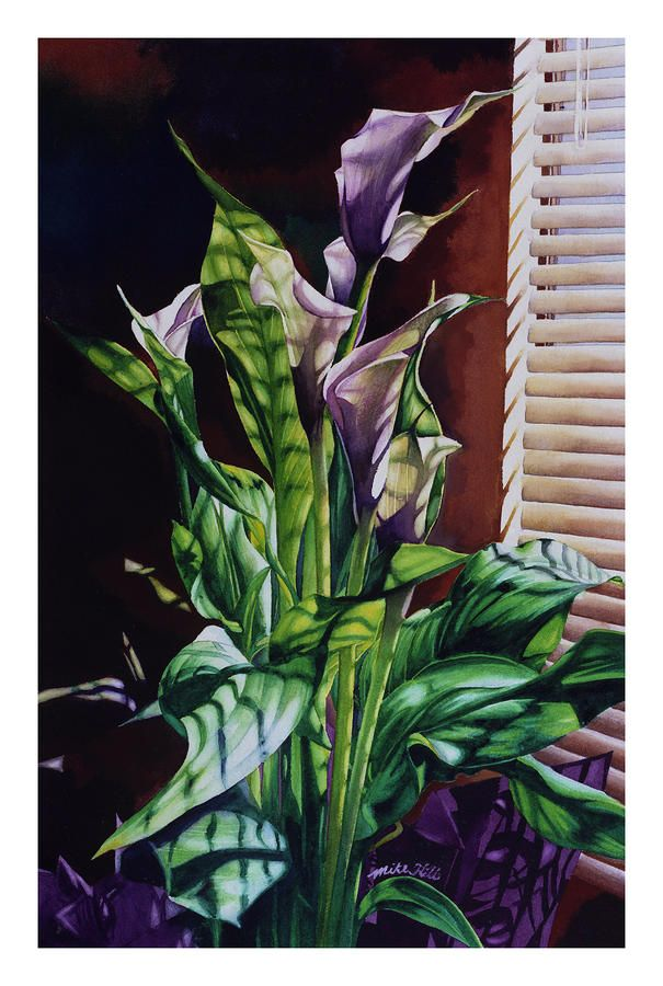 Blind Luck Lilies Painting by Mike Hill - Blind Luck Lilies Fine Art Prints and Posters for Sale
