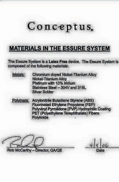 Essure causes harm & many side effects that can be permanent. Black Box Warning. U will suffer for life...Type 1~~~
