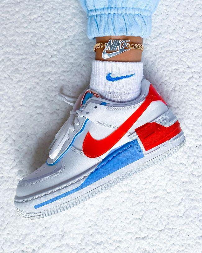 air force 1 orange et bleu