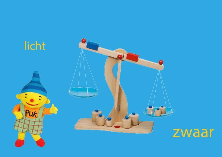 Rekenprikkels - Tegenstellingen - licht, zwaar